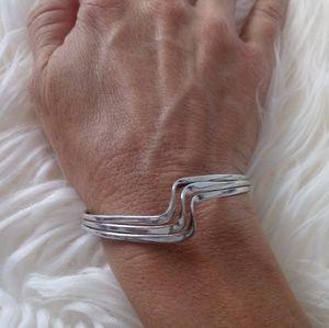 Jewelry - Triple wave cuff sterling silver bracelet